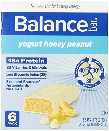 Balance Bar, Yogurt Honey Peanut, 6-Count (Pack of 6) by BALANCE (Protein Bar Honey Peanut Yogurt)