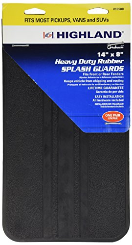 Highland 1058000 Black Splash Guard - 2 Piece