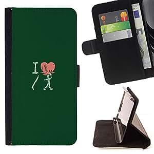 Momo Phone Case / Flip Funda de Cuero Case Cover - I Love Shotgun Zombie - Funny - Sony Xperia Z1 L39