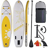 EBTSPORTS Inflatable Stand Up Paddle Board, All-Round SUP Board with Premium SUP Accessories Including Backpac