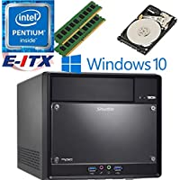 Shuttle SH110R4 Intel Pentium G4600 (Kaby Lake) XPC Cube System , 32GB Dual Channel DDR4, 1TB HDD, DVD RW, WiFi, Bluetooth, Window 10 Pro Installed & Configured by E-ITX