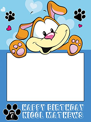 Custom Dog Pet Doggie Paws Photo Booth Prop - sizes 36x24, 48x36; Pesonalized Happy Birthday Home Decorations, Handmade Party Supply Photo Booth Frame