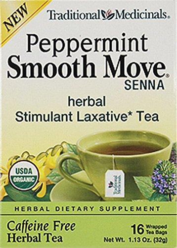TRADITIONAL MEDICINALS TEA,OG1,SMTH,SENNA PPRMN, 16 BAG (pack of 6)