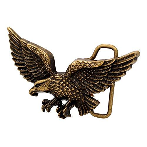 Buckle Rage Adult Unisex Soaring Eagle Hunting Flying Bird Belt Buckle Bronze Eagle Belt Buckle