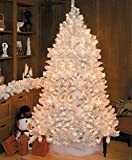 6.5' Pre-Lit Slim Crystal White Artificial Christmas Tree - Clear Lights