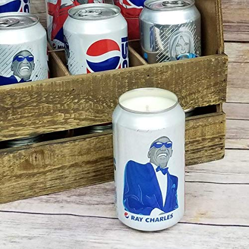 (Ray Charles 2018 Pepsi Can Soy Candle with Custom Scent - Music Generations Series)