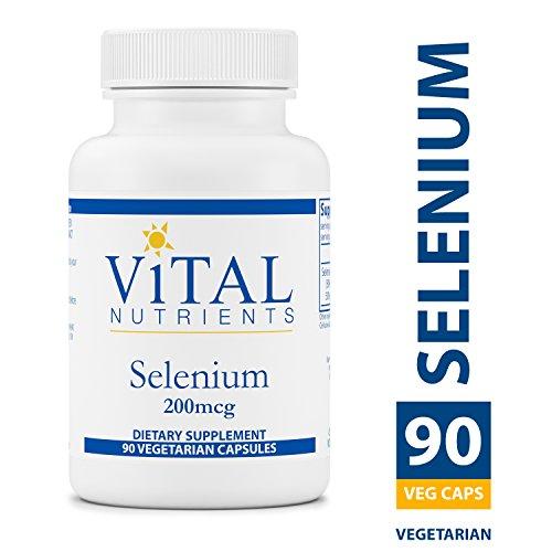 Vital Nutrients - Selenium 200 mcg - Powerful Antioxidant Support - 90 Capsules per Bottle