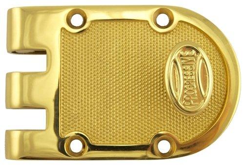 Progressive 1776-3 Polished Brass US3 Grade 1 Single Cylinder Jimmy Proof Deadlock Deadbolt Lock Set