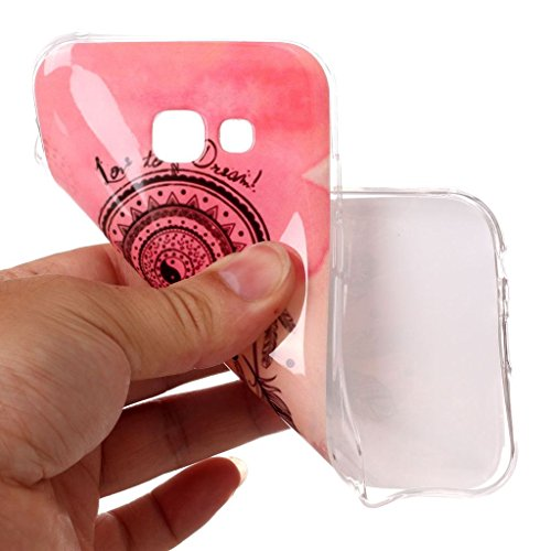 Funda para Samsung Galaxy A5 2017 (SM-A520) , IJIA Transparente Elefante TPU Silicona Suave Cover Tapa Caso Parachoques Carcasa Cubierta para Samsung Galaxy A5 2017 (5.2) A10