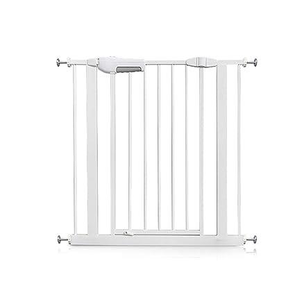 Amazon Com Indoor Safety Gates Child Gate Metal White Pet Fence