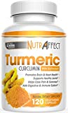 Turmeric Curcumin Capsules with Bioperine (Black Pepper Extract) – Pure Anti-Inflammatory Knee, Hip, Heart & Joint Support Pain Relief Complex – Extra Strength Pills – Best Herbal Health Supplements