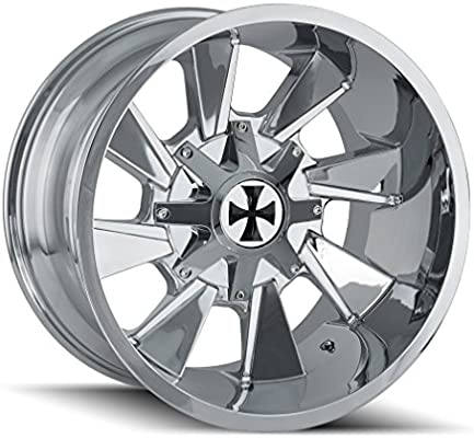 Amazon.com: CaliOffRoad DISTORTED Wheel with Chrome Finish (2012/6135, -44 mm Offset): Automotive
