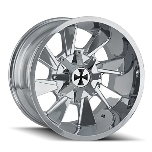 CaliOffRoad DISTORTED Wheel with Chrome Finish (2010/8165.1, -19 mm Offset) -  Cali Off-Road, 9106-2176C