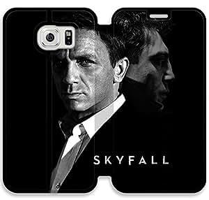Skyfall J4D79M2 Samsung Galaxy S6 cuero del tirón del caso funda personalizada H9N30G0 funda de casos personalizados