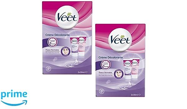 Veet Blanqueamiento Crema Rostro - 2 x 30 ml - Conjunto de 2: Amazon.es: Salud y cuidado personal