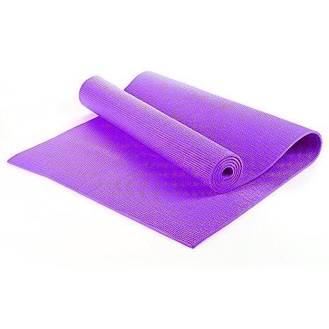 Yoga Ejercicio Entrenamiento Fitness Estera Antideslizante Con Transporte Estuche 183cm x 61cm x 0.6cm - 6mm Gruesas TNP Accessories - Morado, 1830 x ...