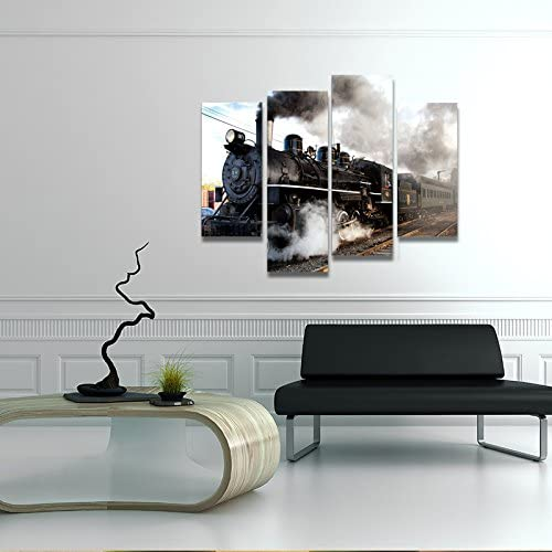 home, kitchen, wall art,  posters, prints 5 image Home For Art INC-Train with Gray Smoke in USA