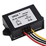 DROK® Waterproof 24W Automatic Step Up/Down Voltage Regulator Stabilizer 8V-40V to 12V 2A Buck Boost Converter 12V 24V 36V Volts Regulate Power Supply for Car Display Fans Solar Energy