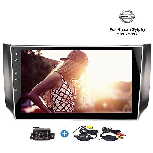 Wireless Rear Camera Included! Eincar 10.1 Inch Car stereo Double 2 Din Android 7.1 Autoradio Support Bluetooth WIFI 3G 4G OBD2 FM AM RDS Radio Mirrorlink for Nissan Sylphy 2016 2017 by EinCar