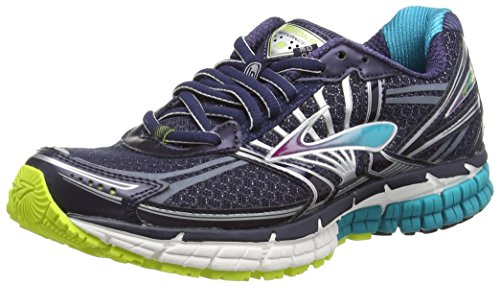 BrooksDefyance 8 - Zapatillas de Running Mujer Azul - Blau (Peacoat/Caribbean/LimePunch)