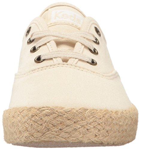 Keds Mujeres Champion Salt Wash Lienzo Jute Fashion Sneaker Cream