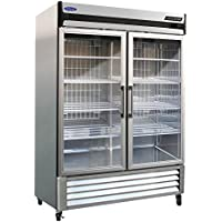Norlake NLR49-G AdvantEDGE Two Section Glass Door Reach-In Refrigerator