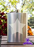 Star 8 Ounce Stainless Steel Flask