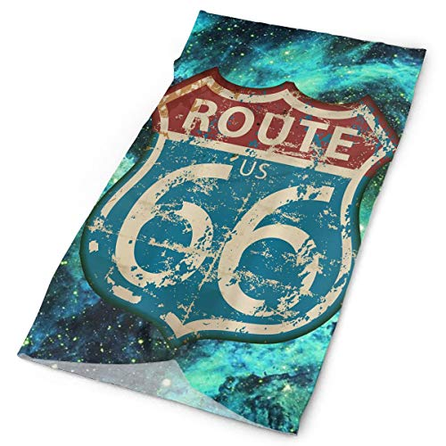 America Highway Travel Lifestyle Route 66 Head Bands for Adults Headbands Hair Headband Men Women Headwear Headscarf - Americas Route 66 Motorcycle Highway