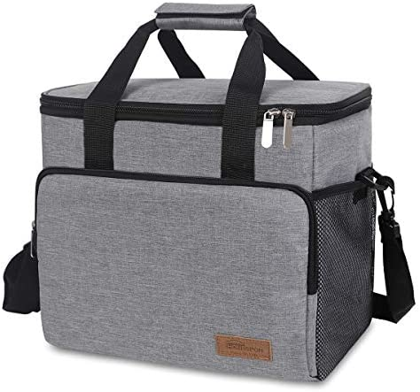 Newox-Homespon Isolierter Lunch Bag Kühler Totes Reusable Leakproof Thermos Bento Getränke Holder Container für Picknick Wandern Strand Angeln