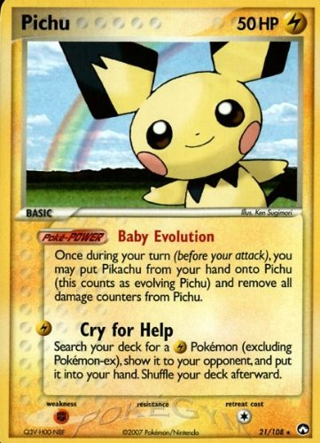 Power Keepers Pokemon Card - Pichu - Power Keepers - 21 [Toy]