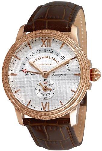 Automatic 16k Rose - Stuhrling Original Men's 340.3345K2 Symphony Saturnalia Chairman 16k Rose Gold-Plated Automatic Watch