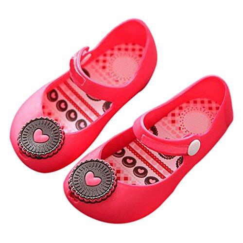 Zhuhaixmy Säugling Baby Mädchen Jungen Katze Anti-Rutsch Weich Gelee Fisch Mund Schuhe Kleinkind Kinder Strand Sandalen Regen Stiefel Rot