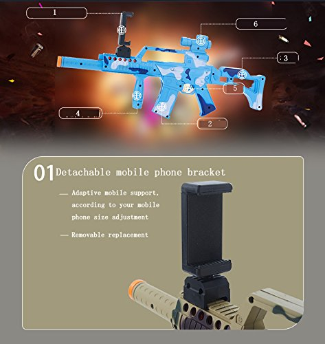 Amazon.com: AR Game Gun Novelty Games Augmented Reality Bluetooth Game Controller with Cell Phone Stand Holder Portable Virtual AR Toys with 360°for IOS Android: Toys & Games