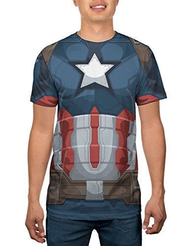 [Marvel Captain America Mens Costume T-shirt S] (Captain America Costumes For Adults)