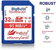 BigBuild Technology UHS-I U3 - Tarjeta de Memoria para Olympus OM DE, Pen-E/F y Stylus (95 MB/s, Incluye M1/M5/M10 II/III, PL8/PL9, Tough TG y más ...