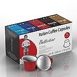 100 count nespresso pods - Nespresso Compatible Coffee Capsules - 100 Pack - Single Serve Pods for Original Line - Ristretto Blend(High Intensity)- By Battistino