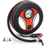 SHIVREX Portable Electric Mini DC 12V Air Compressor Pump for Car and Bike Tyre Tire Inflator