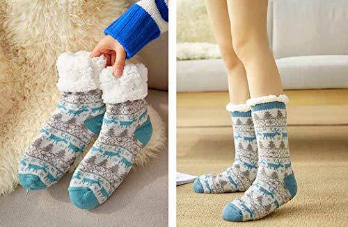 Zoylink Christmas Slippers Socks Thick Socks Anti Slip Winter Warm Socks for Women at Amazon Womens Clothing store: