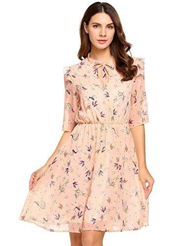 floaty sleeve chiffon floral dress - 2