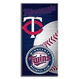 MLB Minnesota Twins Emblem Beach Towel, 28 x 58-inches