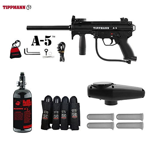 MAddog Tippmann A5 A-5 Advanced Paintball Gun Package