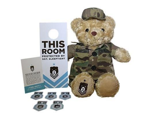 Army Teddy Bears - ZZZ Bears Sgt. Sleeptight U.S. Army Teddy Bear and Military Grade Sleep System