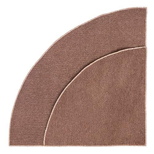 Premium Brown Corner Carpet Area Rug Home School Kitchen Use 76 x 35 x 35 or 76 x 49 x 49 (Large, Brown