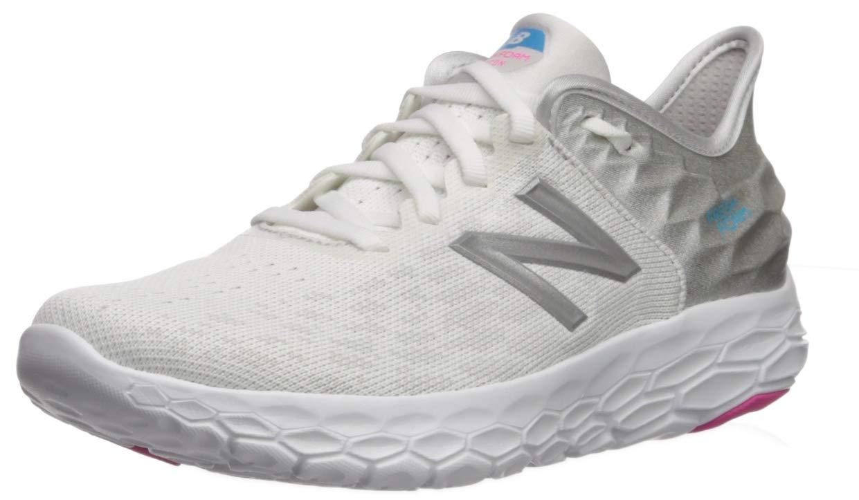 New Balance Women's Beacon V2 Fresh Foam Running Shoe, White/Summer Fog, 5 M US
