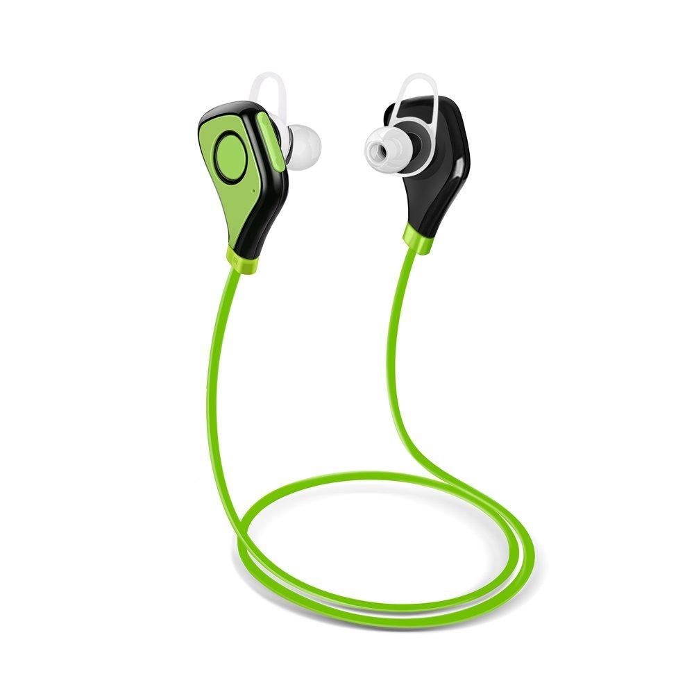 Jennyfly Music Earbud, Bluetooth in Ear Hands-Free Call Wireless Running Noise Canceling Headset Sport Earphone with Stereo Surround Sound Microphone Sweatproof Earpiece for Men Women - Green