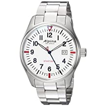 Alpina Men's 'Startimer' Swiss Quartz Stainless Steel Casual Watch, Color:Silver-Toned (Model: AL-240S4S6B)