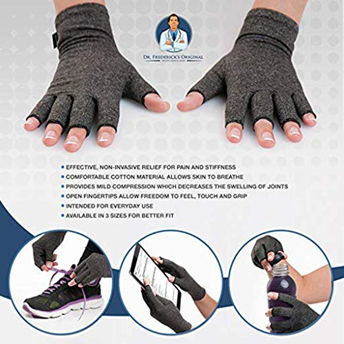 Onefa Anti Arthritis Copper Fingerless Gloves Compression Therapy Circulation, Which Ultimately Reduces Pain and Promotes Healing,Relieves Aches & Pains