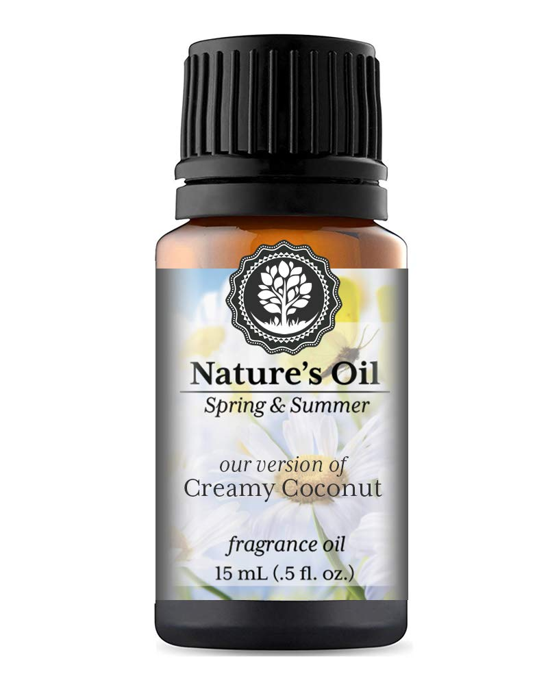 Creamy Coconut Fragrance Oil (15ml) For Diffusers, Soap Making, Candles, Lotion, Home Scents, Linen Spray, Bath Bombs, Slime