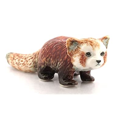ChangThai Design 3 D Ceramic Toy Red Panda No.2 Dollhouse Miniatures: Toys & Games