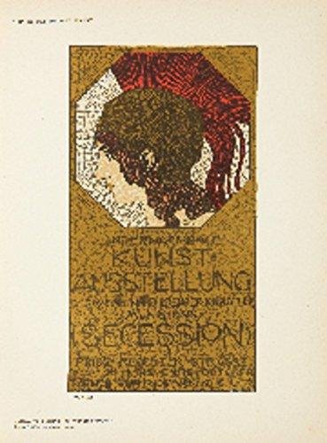 Das Moderne Plakat - Kunstausstellung Vintage Poster artist: von Stuck Germany c. 1898 Art